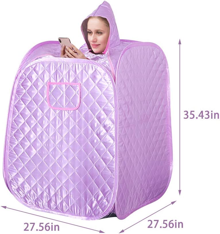 Personal Therapeutic Sauna for Weight Loss Single Sauna with Foldable and Steamable Feet ETE ETMATE Portable Sauna Spa Steamer Storage Bag Remote Control Fumigation Machine