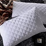Pillows for Sleeping, Goose Down Alternative Quilted Bed Pillow 2 Pack, FDA Registered, Super Soft Plush Fiber Fill, Adjustable Loft, Relief for Neck Pain, Hypoallergenic by Sable, Queen Size