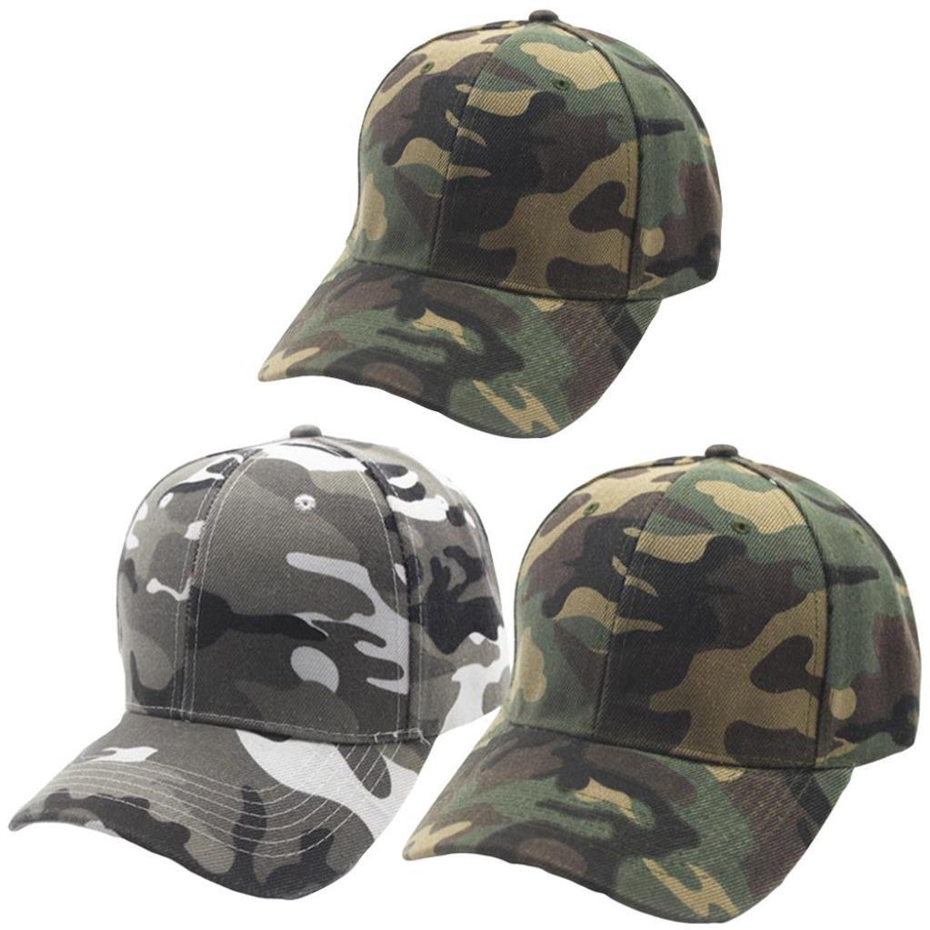Unisex Men Women Packable Camouflage Baseball Cap Snapback Hat Hip-Hop Adjustable Summer Baseball Cap