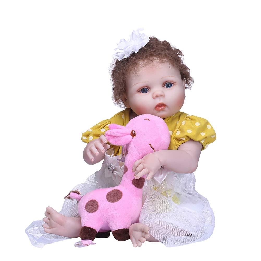 barato en alta calidad HshDUti 56cm Muñeca Suave de Vinilo para Niña Bebé de de de Vinilo, Regalo Natural Recién Nacido, Juguete para Niños 56CM  60% de descuento