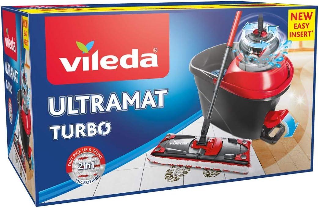 Vileda Ultramat Turbo Komplett Box Bodenwischer Set Küche Haushalt