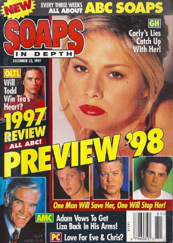 Sarah Brown, General Hospital, Amelia Marshall, Jennifer Sky, Helen Gallagher, Lisa Lord, 1997 Year in Review Issue - December 23, 1997 ABC Soaps in Depth Magazine [Soap Opera]