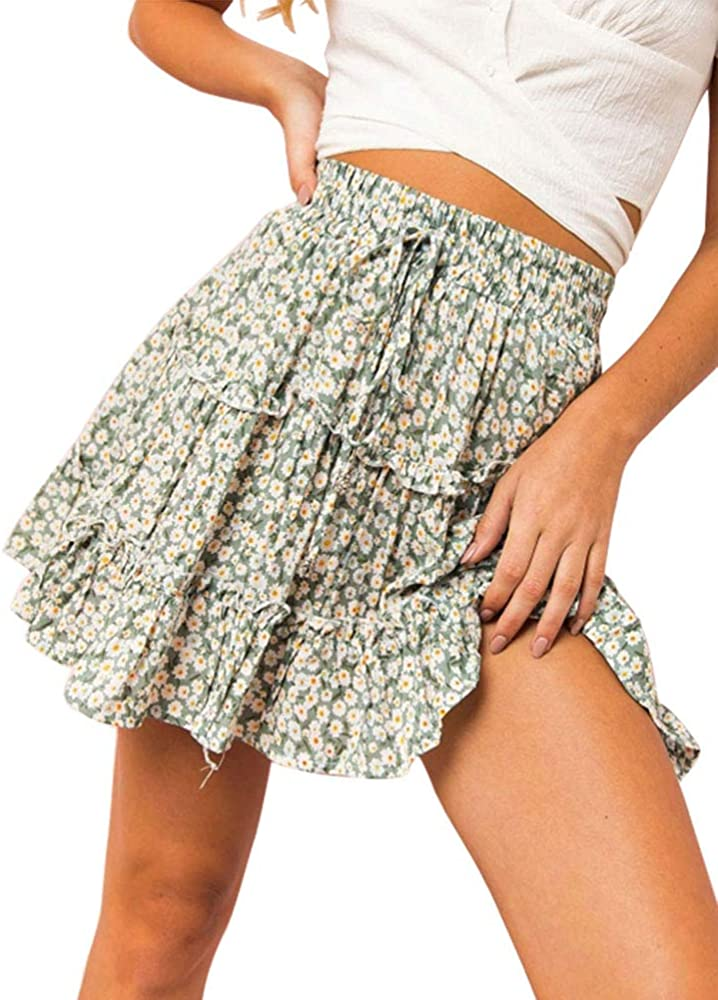 Faldas Mujer Vintage Verano Falda De Verano Vacaciones Moda Estilo ...