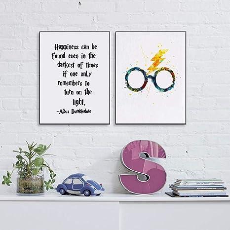 Harry Potter Impression Sur Toile Avec Lunettes Citation