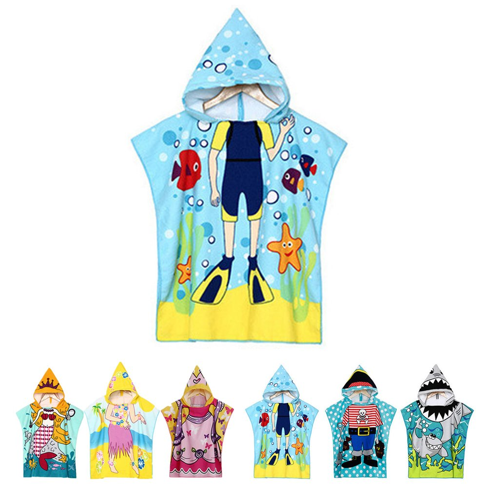 NEWCOSPLAY Kids Baby Cartoon Diver Hooded Bath/Beach/Pool Quilt Towel (Butterfly) Cotton