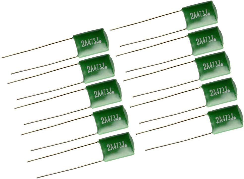 Pack of 10 Polyester Film Drop Guitars Capacitors 0.047uf//2A473J