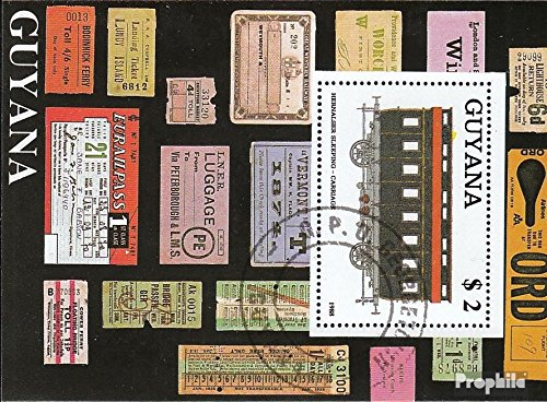 - Guyana Block33 (Complete.Issue.) 1989 Railway (Stamps for Collectors) Trains/Railway