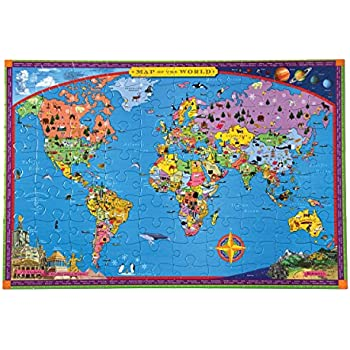 Amazon a broader view the global puzzle 600 piece toys games eeboo world map puzzle for kids 100 pieces gumiabroncs Images
