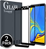 Ferilinso for Samsung Galaxy A7 2018 Screen Protector, [2 Pack] [Full Coverage] [Full Adhesive Glue] Bubble Free Tempered Glass Protection Film with Lifetime Replacement Warranty (Black)