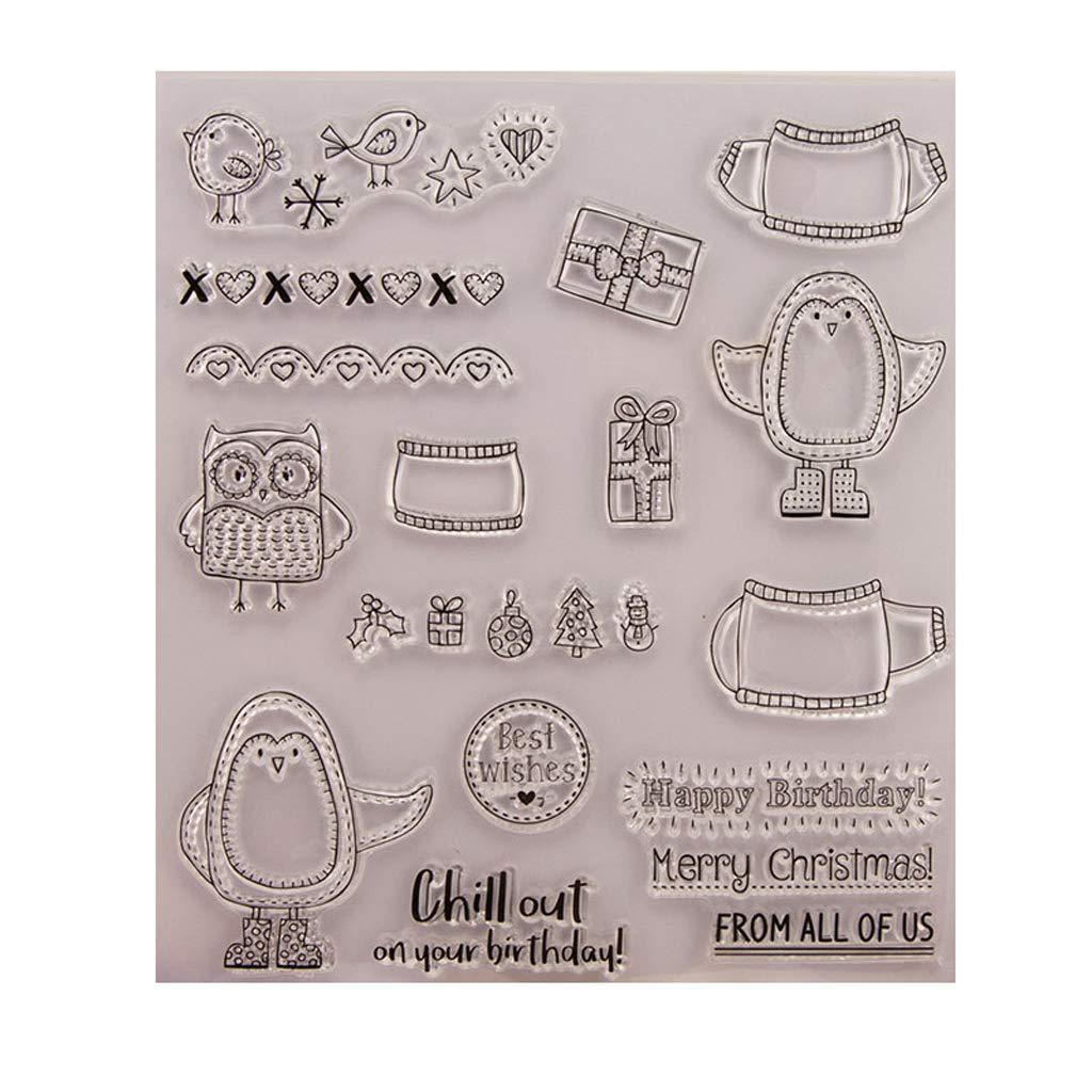 Sello claro, Zohong Navidad regalo sello transparente silicona sello DIY Scrapbooking rePujado tarjetas de papel decoració n del hogar'