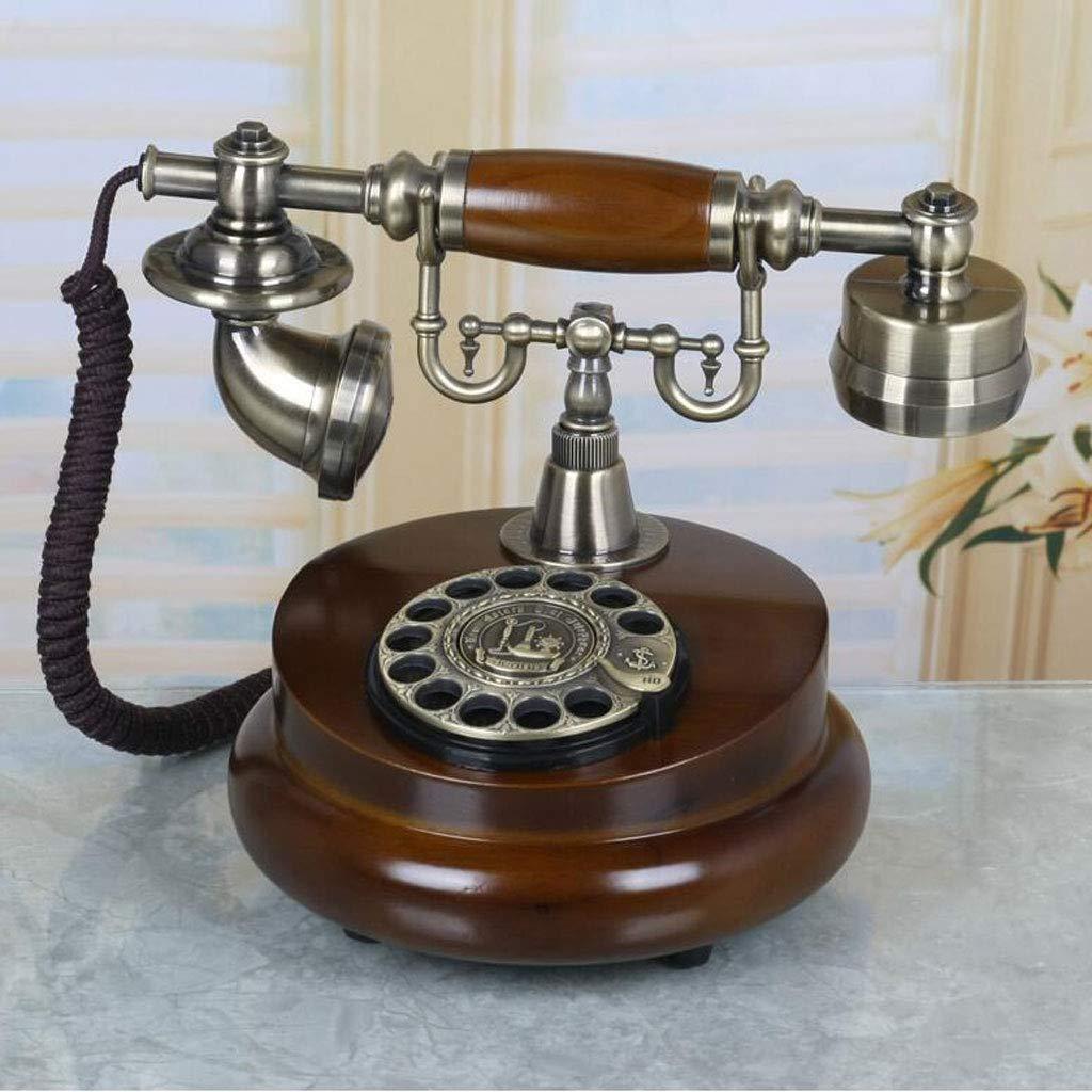Teléfono Liuyu · Living Home Marrón Retro Phone Metal Fashion ...