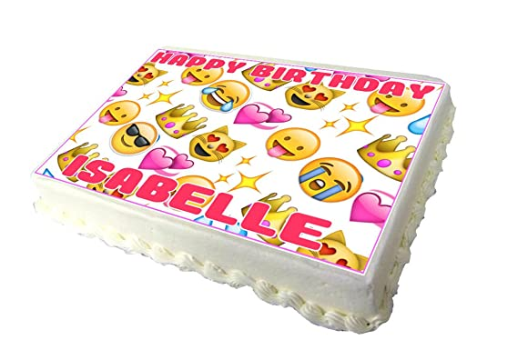Emoji Edible A4 Birthday Cake Topper