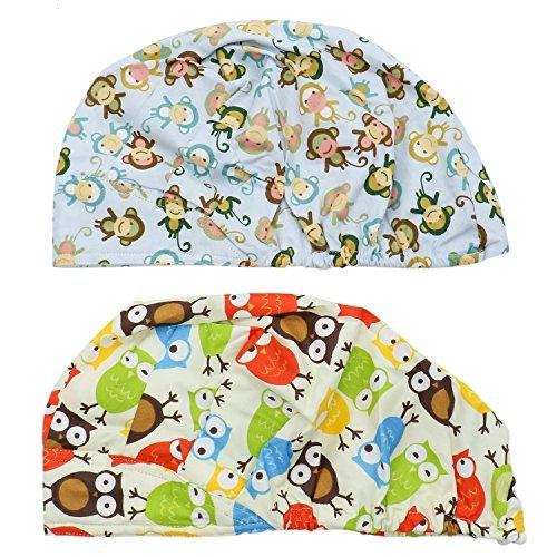 Buorsa Set of 2 Doctor Scrub Cap,Adjustable Bouffant Flower Print Hat for Women Ponytail for $<!--$10.99-->