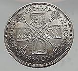 1936 Great Britain UK United Kingdom Big SILVER FLORIN Coin King George V i63515