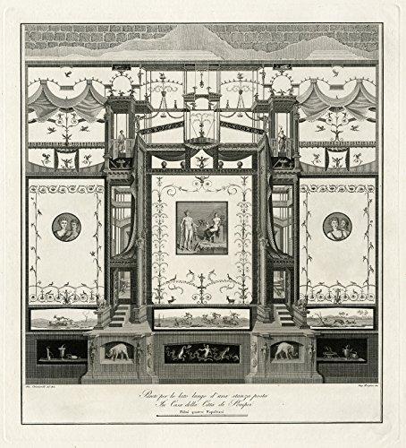 Antique Master Print-POMPEI-FRESCO-CLASSICAL HISTORY-Chiantarelli-Morghen-1808