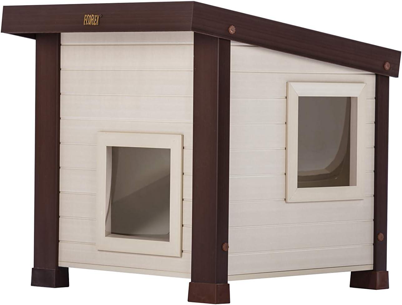 Amazon.com: Casa exterior para gatos ECOFLEX Albany.: Mascotas