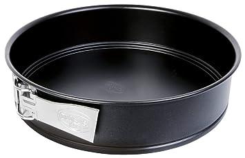 Dr. Oetker 1437 Molde Desmontable de 1 Fondo, Metal, Negro, 24 cm: Amazon.es: Hogar