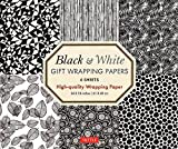 Black & White Gift Wrapping Papers - 6 sheets: 6 Sheets of High-Quality  24 x 18 inch Wrapping Paper