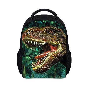 58f615f54ffd Moolecole Unisex 3D Dinosaur Print Children School Backpack Kids Rucksack  Daypack Toddlers Nursery School Bag