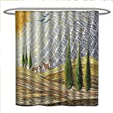 Best Georgia European Coffees - Littletonhome Italian Shower Curtains Fabric Van Gogh Style Review