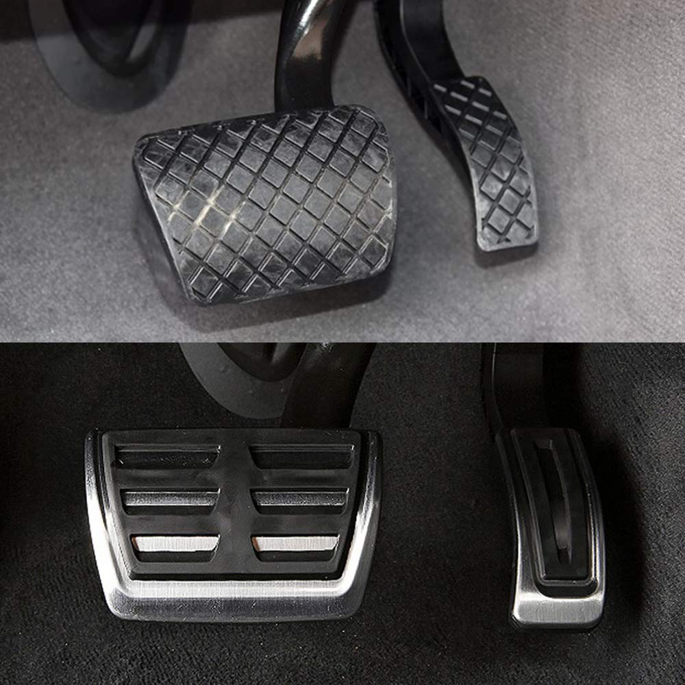 Chompoo Stainless Steel Gas Accelerator Fuel Brake Pedals at Plate Pad for Audi Q7 Porsche Cayenne VW Volkswagen Touareg
