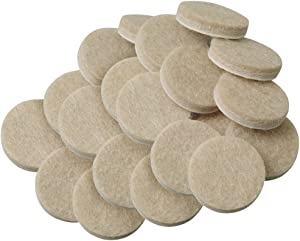 SoftTouch 4718595N 3/4 Inch, Linen, 20 Pack Heavy Duty Felt Furniture Pads-Protect Hardwood and Linoleum Floors frim Scratches, 20 Piece