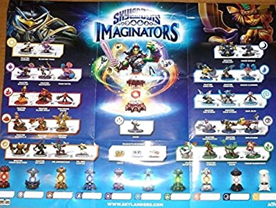 Skylanders Imaginators Character and Creation Crystal Checklist Poster