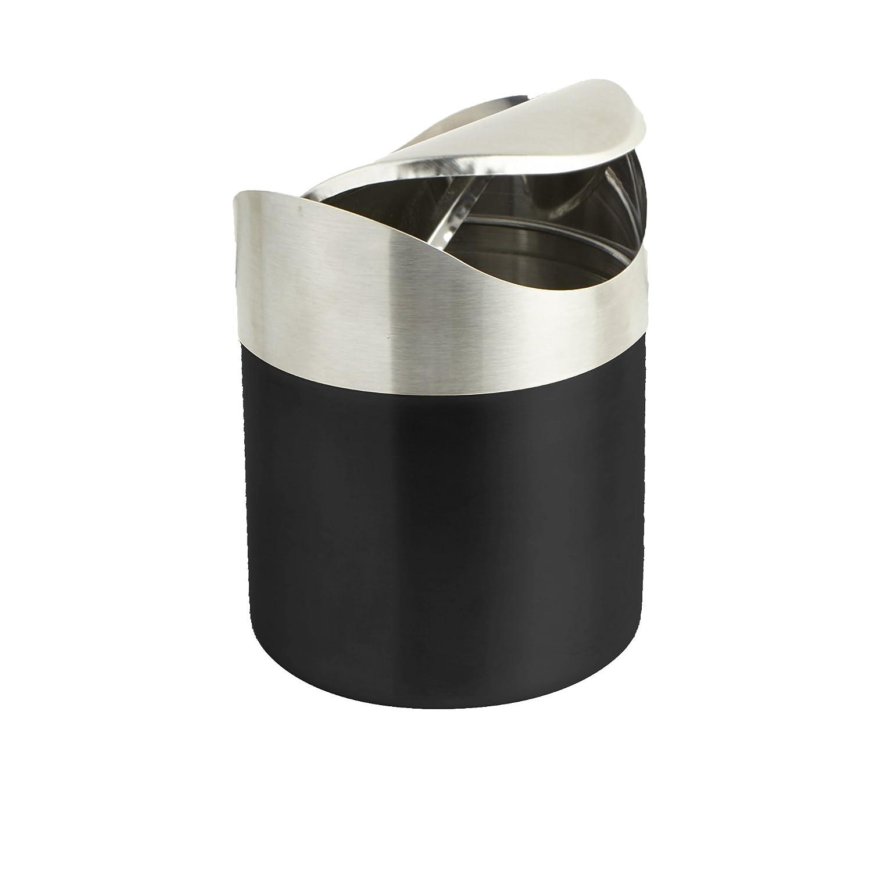 Mind Reader Mini Counterop Trash Can with Lid, Small Desk Recycling Trash Bin Kitchen Desktop Bathroom Office Wastebasket 1.5 L / 0.40 Gal