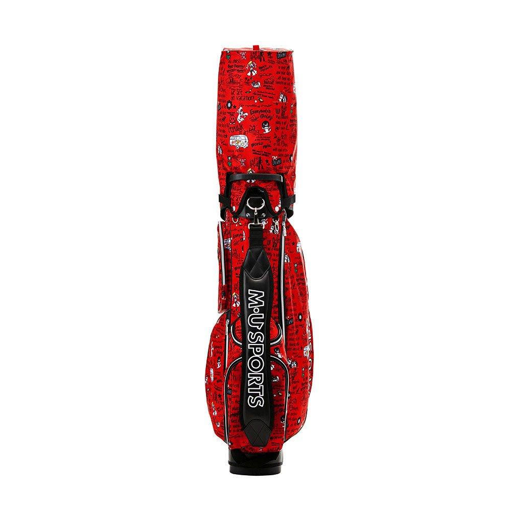 MU SPORTS(エム ユースポーツ) キャディーバッグ 703V4102 軽量スタンド型 バケーション柄キャディバッグ レッド703V4102 レッド B074FRRLHY
