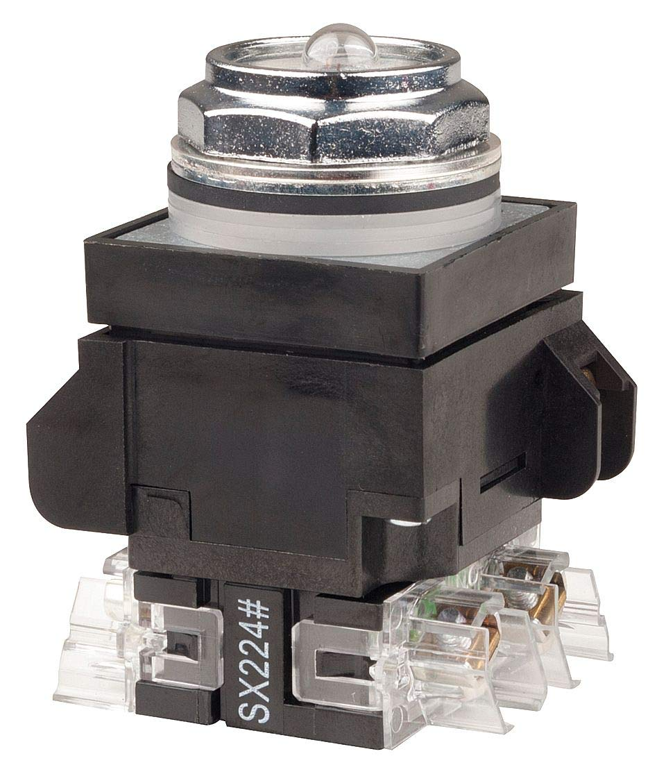 No Lens 1NO//1NC GE 30mm General Electric - 104PBT11A1S5 Illum Push Button