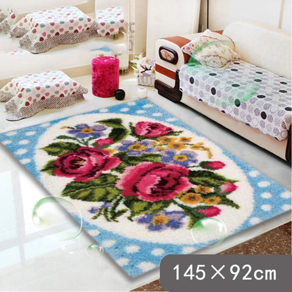 Latch Hook Rug Kit Cushion Pollow Mat DIY Craft Twins Cat 52x38cm Animal carpet embroidery Cross Stitch Needlework Rug