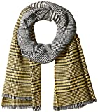 Orchid Row Women's Ombre Grid Wool Effect Cold Weather Scarf Yellow O/S