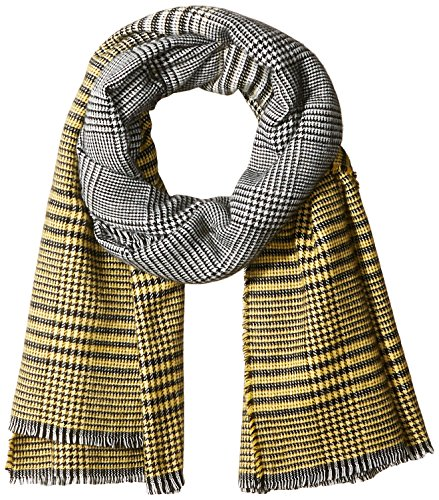 Orchid Row Women's Ombre Grid Wool Effect Cold Weather Scarf Yellow O/S by Orchid Row