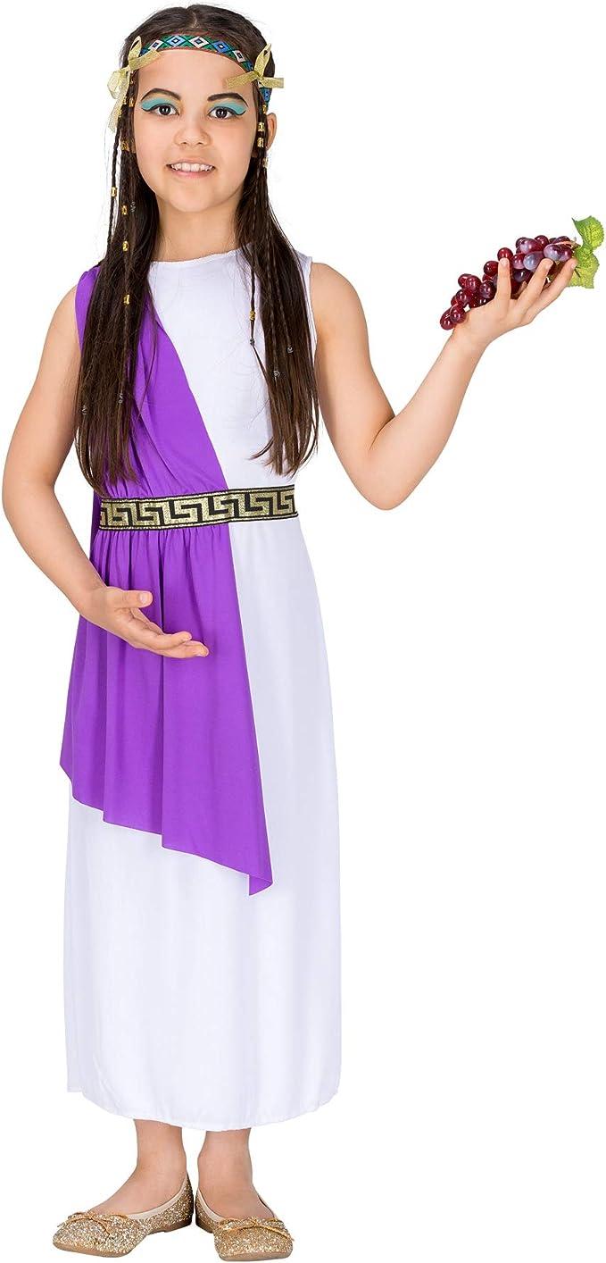 dressforfun 900067 - Disfraz de Niña Diosa Griega Atenea, Vestido Largo Tipo Capa (5-7 años | No. 300254): Amazon.es: Productos para mascotas