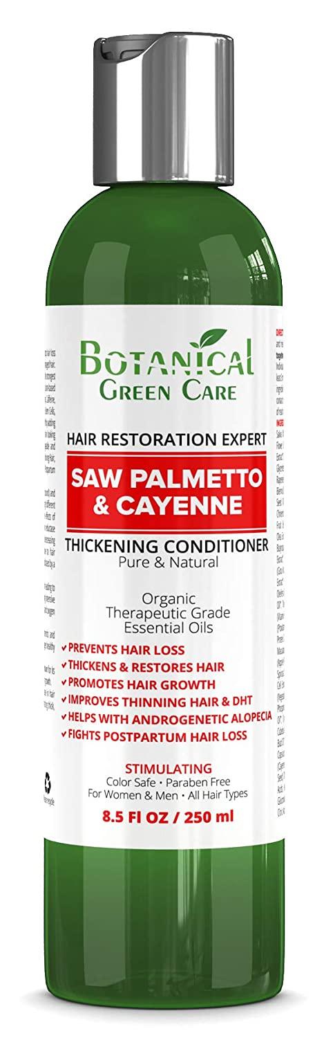 """Saw Palmetto & Cayenne"" Hair Growth Anti-Hair Loss CONDITIONER. Alopecia Prevention and DHT Blocker. Doctor Developed. NEW 2019 FORMULA!"