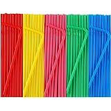"500 Pcs Colorful Disposable Plastic Flexible Straws.(0.23'' diameter and 7.7"" long)"