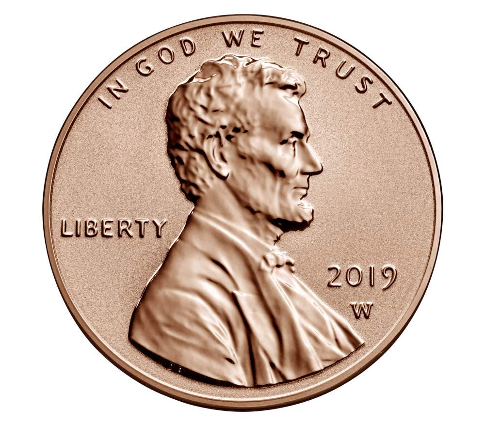 2019  W  Lincoln Cent Penny   REVERSE PROOF coin