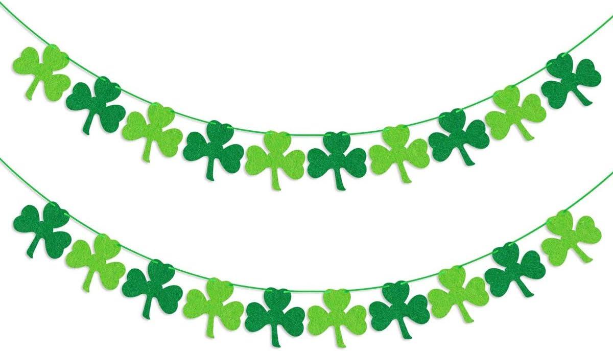 Irish D\u00e9cor St Patrick/'s Banner Shamrock Banner Lucky Banner Irish Banner Saint Patrick/'s Day Garland for mantle Garland Mantle D\u00e9cor