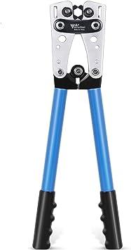 Amzdeal - Crimpadora para cables de batería, herramienta engarzadora de  terminales de batería para 0, 2, 4, 6, 8, 10 AWG: Amazon.es: Bricolaje y  herramientas
