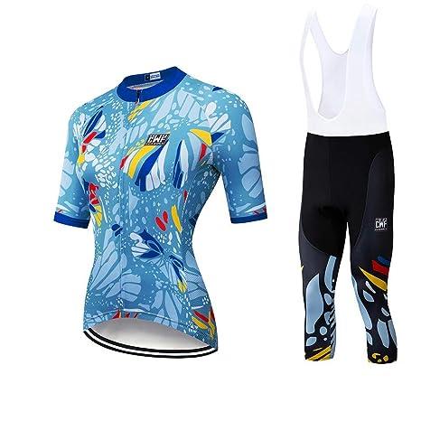 Traje de jersey de ciclismo para mujer Jersey de manga corta ...