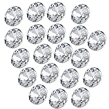 22mm Diameter Sofa Headboard Upholstery Crystal Buttons Pack of 20