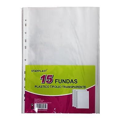 180075 - Fundas transparentes de plástico, 60 unidades, textura de piel de naranja, tamaño folio, 11 agujeros (FOLIO PIEL DE NARANJA)