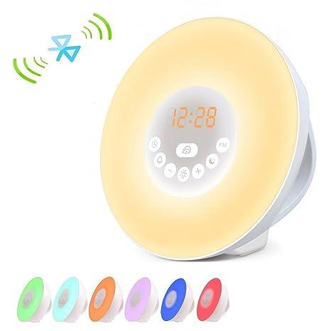 luz Despertador Wake Up Light Amanecer LED Luz con 7 luces ...