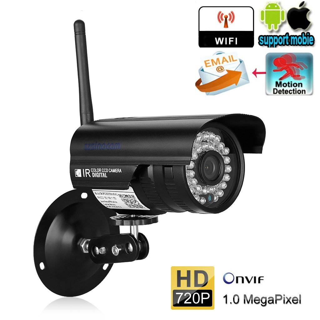 Amazon.com: Szsinocam 720P Wireless WiFi IP Camera Outdoor Bullet ...