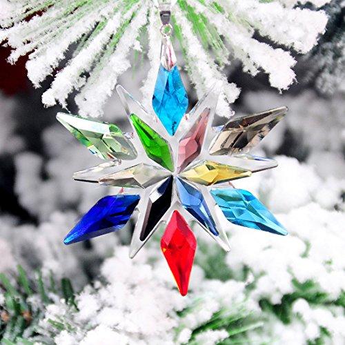 Crystal Snowflake Christmas Ornament - H&D Crystal Snowflake,Christmas Ornament (Snowflake-3)