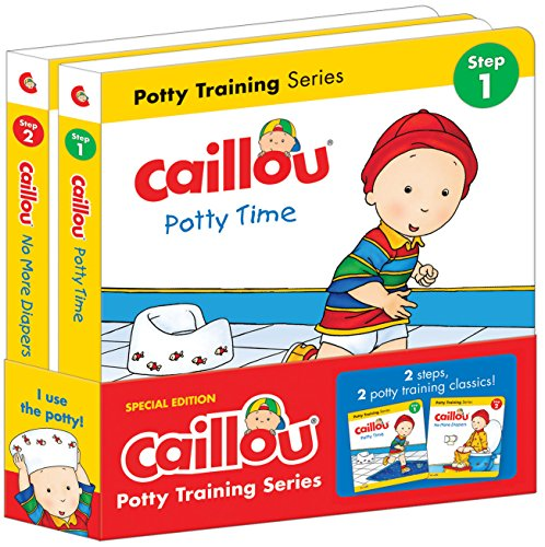 Caillou, Potty Training series: Set of 2 books (Hand in Hand) (Caillou Training Potty)