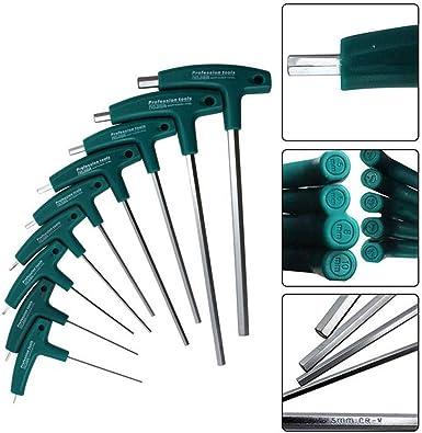 ❤️Jonerytime❤️Hex Key Set Socket Screwdriver H1.5mm-10mm 5mm T-Handle Allen Wrench Screws Tool