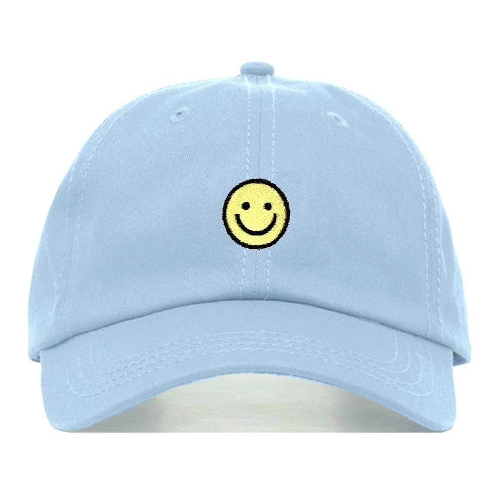 caf6ab6f4f9 Smiley face dad hat embroidered baseball cap cotton jpg 1001x1001 Smiley  face dad