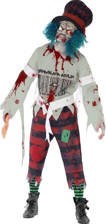 Hombre Zombie del Sombrerero Loco con máscara Halloween Espíritu ...