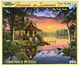 : White Mountain Puzzles Friends in Summer - 1000 Piece Jigsaw Puzzle